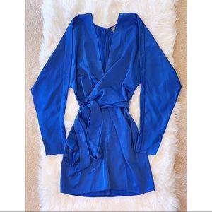 ASOS DESIGN: mini dress in COBALT